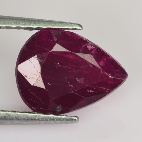 Ruby - 1.78 ct - Deep Purplish Red - No Reserve