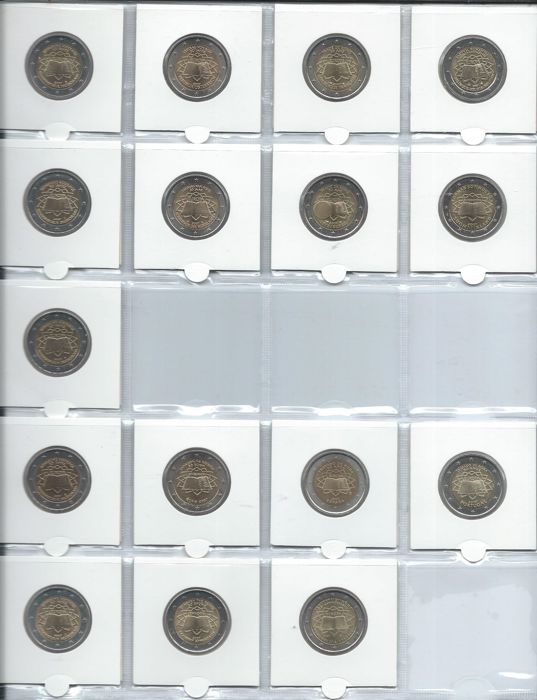 Europe - 2 euro 2007 'Treaty of Rome' from 13 countries (16 coins in total)