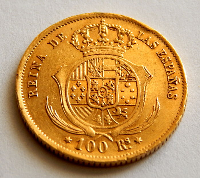 Spain - Isabel II - 100 Reales 1862 Madrid - Oro - Gold