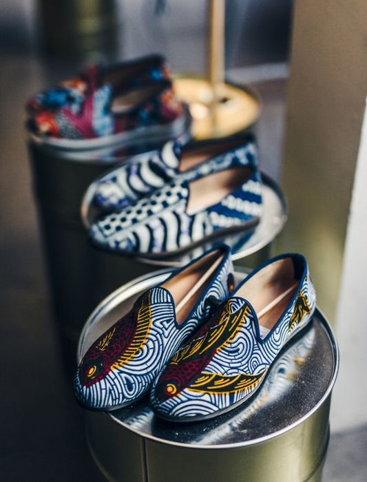 df46aca3f1c Galet - French Loafers - Vlisco Big Red - Catawiki