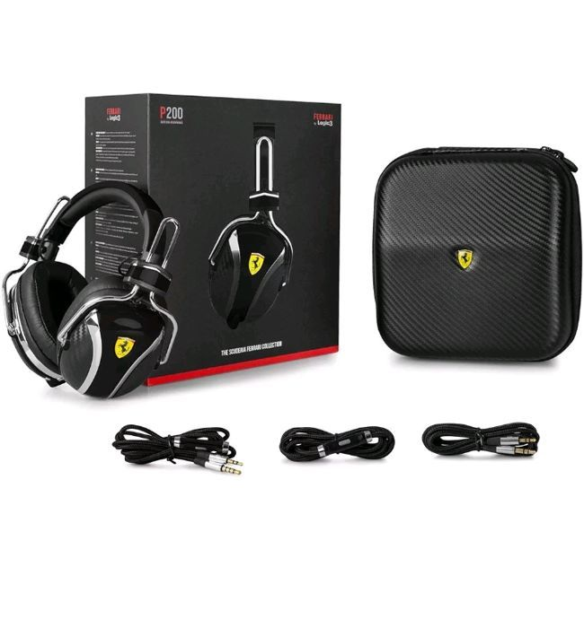 Headphones P200 black Ferrari Logic3