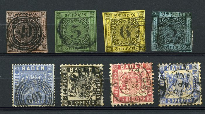 Old German States 1860/1900 - various states, composition on stock cards