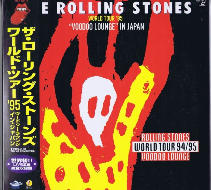 "Rolling Stones - 2x Laserdisc: ""Voodoo Lounge"" in Japan, World Tour '95 (Dolphin TCLP-1001-2) made in Japan 1995 