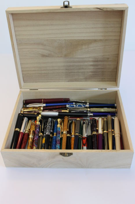 50 collector fountain pens in gold and silver - Second half of the 20th century