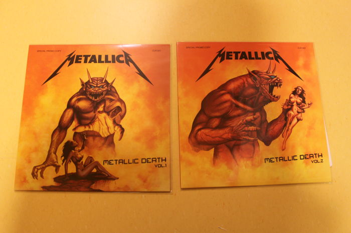 Metallica ‎– Metallic Death Vol. 1 & Vol.2 - Limited edition to 100 copies - NM, unofficial releases
