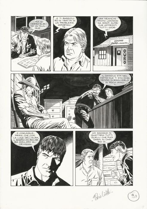 Mister No - Fabio Civitelli - original page - Loose page - First edition