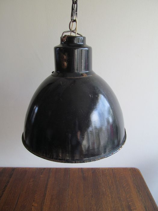 Unknown designer - enamel black industrial factory light