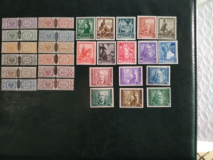 Italy 1938, 2 Series, Scott Catalogue: C100-C105, 400-409, 1945,Q37-Q48