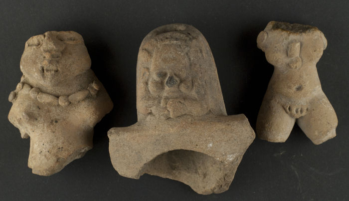 Lot of 3 pre-Columbian fragments