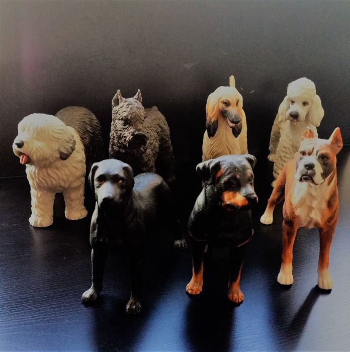Collection of Atika dog figurines