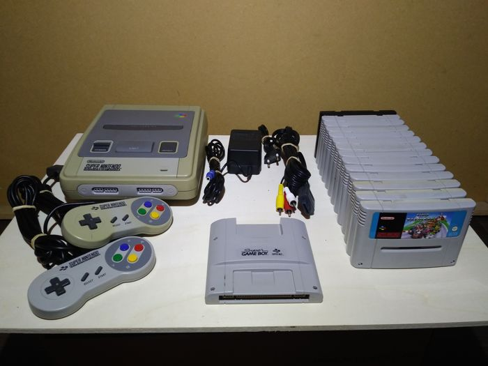 Super Nintendo SNES + 14 games and super gameboy