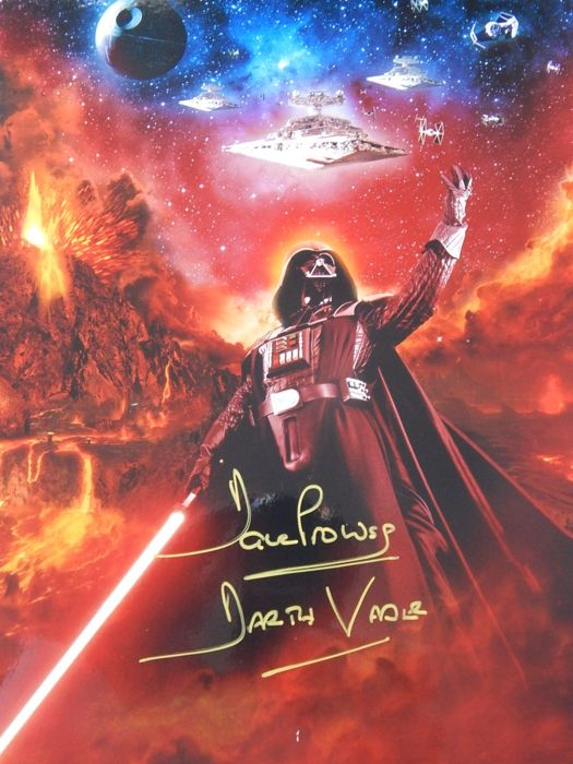 "Star Wars - Original Photograph of Darth Vader - ""Vaders triumph"" signed by David Prowse (2012)"