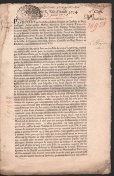 1734 - French Tontine