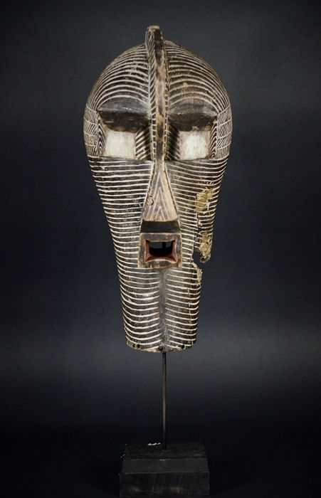 Special African Tribal SONGYE Kifwebe Mask. Democratic Republic Congo.