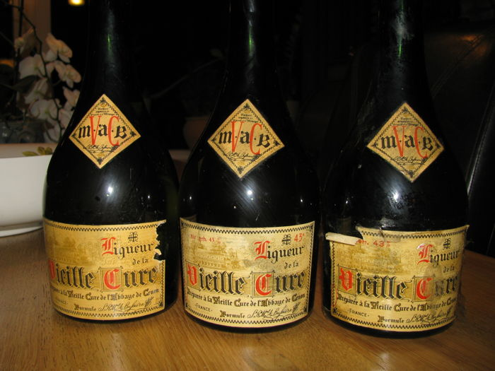 3 Bottles Vieille Cure - bottled 1960s
