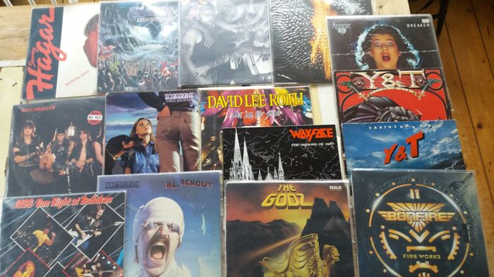 Lot of 15 hardrock / metal albums