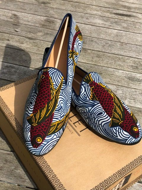 Galet - French Loafers - Vlisco Big Red