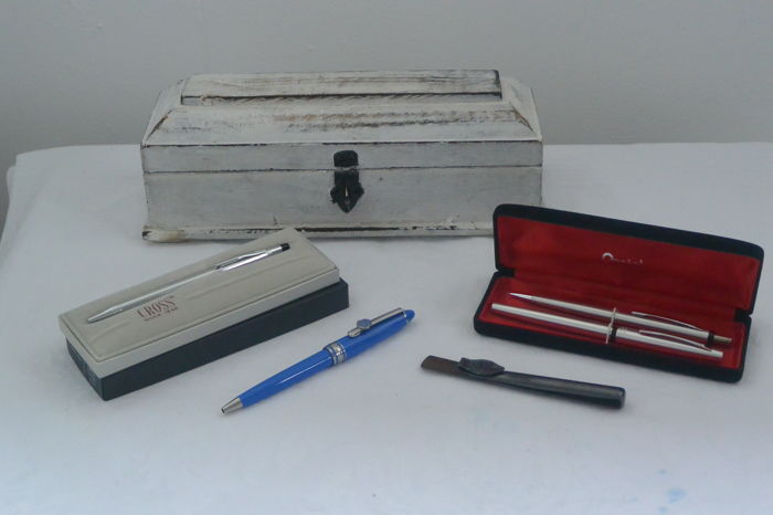 Vintage Pentel Pen Set Japan/Cross Fujifilm Pen/Swan Pen Clip