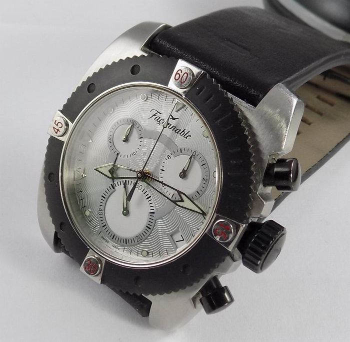 Façonnable - F. Chrono 2 - Gray Pattern Chronograph - Men - 2000-2010