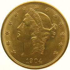 "United States - 20 Dollars 1904 ""Coronet Head"" - Gold"