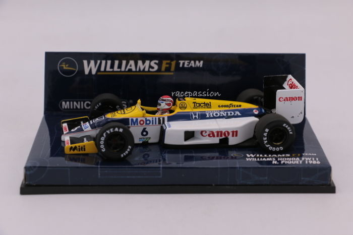 Minichamps - Scale 1/43 - Williams Honda FW11 - 1986 - Driver: N. Piquet