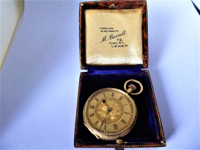 swiss  - swiss  gents pocket watch  - Heren - 1850-1900