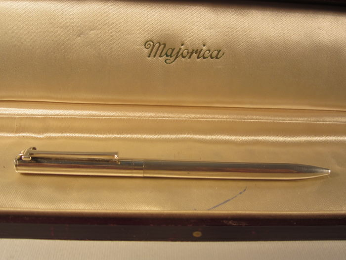 Rare and precious 'Tiffany' vintage ballpoint pen in solid 925 silver