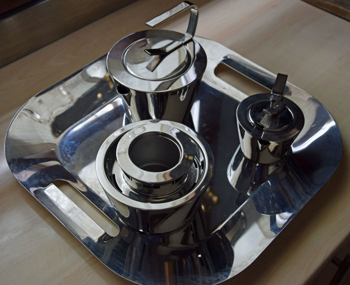 Metier Metal momou for oliver hemming metier atelier - steel tea set - catawiki