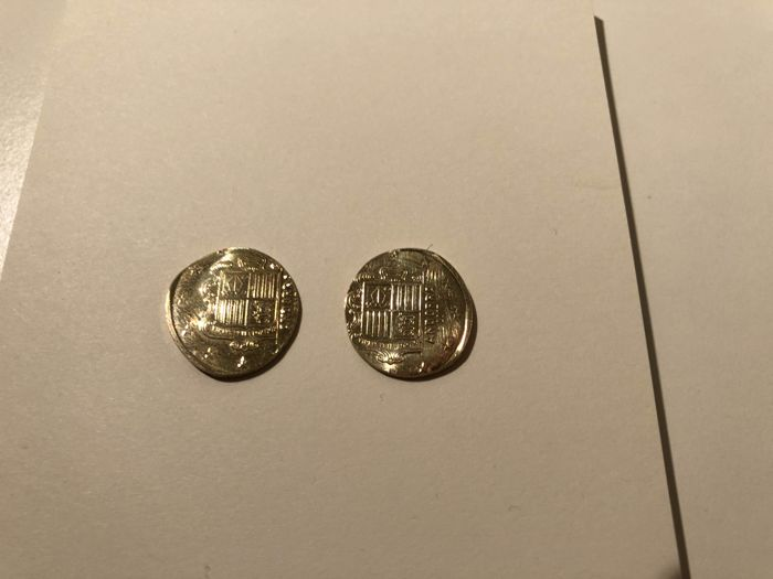 Andorra - 2 euro 2017 mistake in blank production (2 pieces)