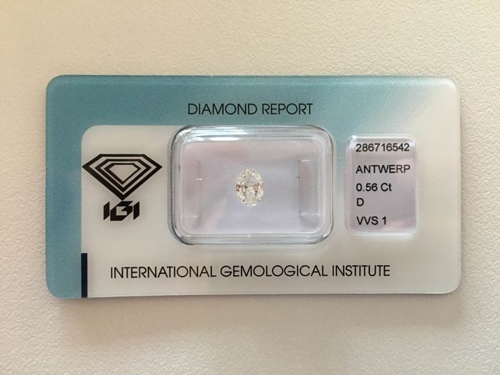 *LOW RESERVE PRICE* IGI 0,56ct Natural Diamond