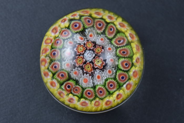 "A.VE. M.  (Murano)  - ""Murrine Giro"" series paperweight from the 1950s"