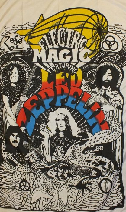 Led Zeppelin Flag Heavy Rock 60s/70s Psychadelic Jimmy Paige Robert Plant.