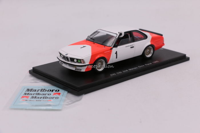 Spark - Scale 1/43 - BMW 635 CSi - 2nd Macau Guia Race - 1985 - Limited Edition