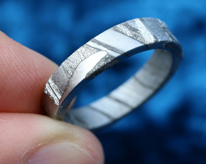 Real Seymchan Meteorite Ring - 18.3 mm