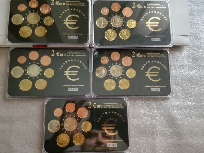 Europe - 5x Euro coins sets