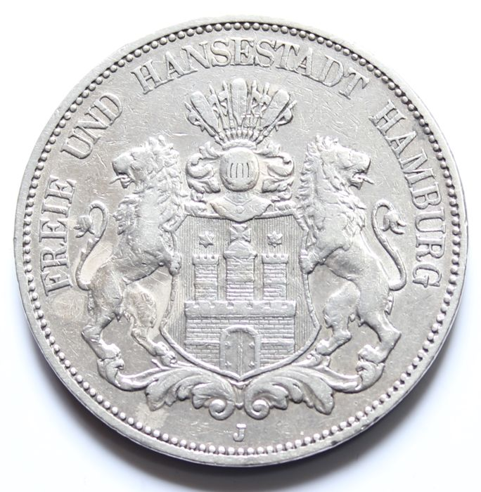 Hamburg – 5 Mark 1901 J