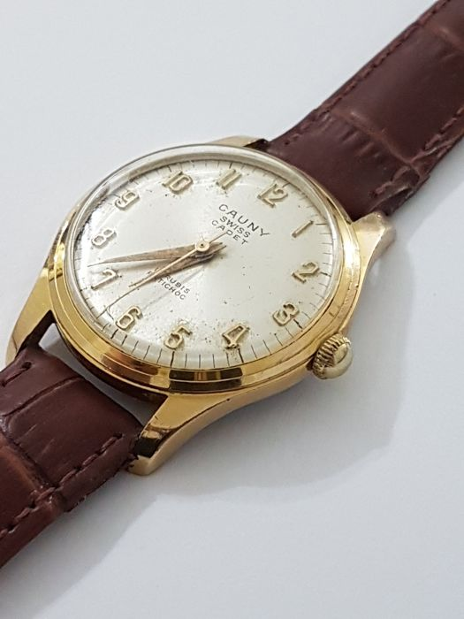 Cauny - Cadet - Swiss made - placcato oro 18 kt - carica manuale 17 jewels - Men - 1960-1969