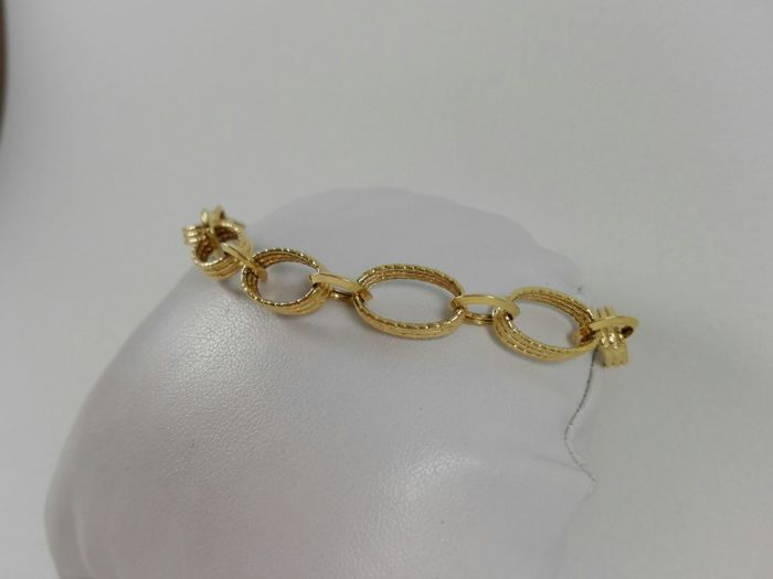 18 kt yellow gold women's bracelet Weight: 5.3 g.