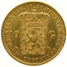 Netherlands 10 guilder 1825 Brussels Willem I - gold
