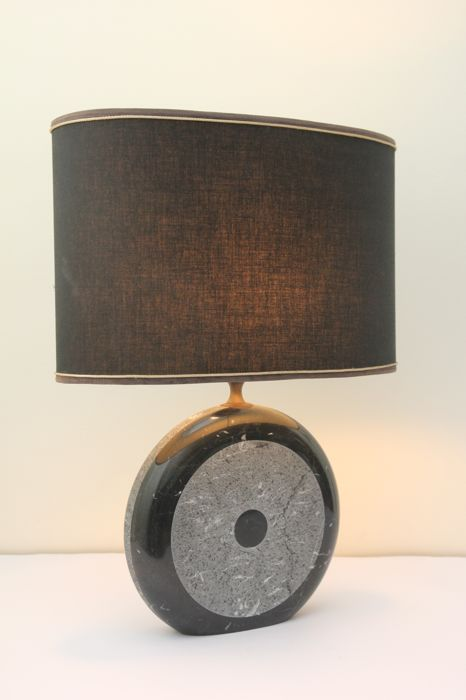 "Lazzeri - Table lamp in double marble ""The Eye"""