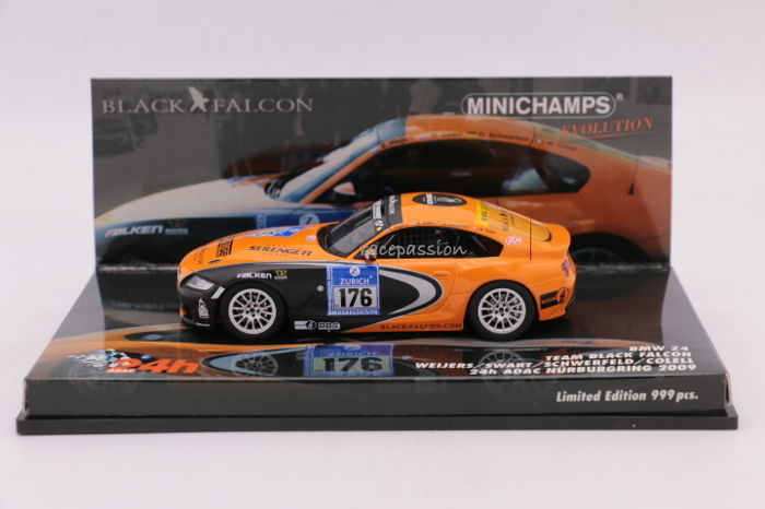Minichamps - Scale 1/43 - BMW Z4 - Team Black Falcon - 24H Nürburgring 2009 - Limited Edition