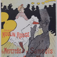 Henri De Toulouse Lautrec (1864-1901) - Moulin Rouge - La Goulue - original lithograph