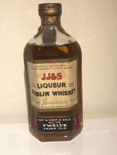 John Jameson jj&s 12 years old Dublin whisky distilled late 40s early 50s