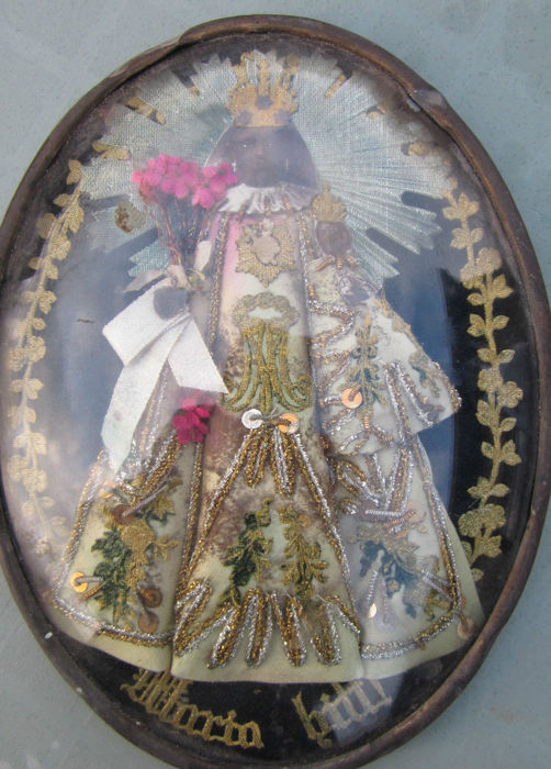 "Relic with the Black Madonna ""Maria bitt"" - 19th century"