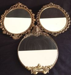 Lot of 3 mirrors - Classic style - France
