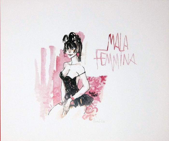 "Pratt, Hugo - signed print ""Malafemmina"" (1987)"