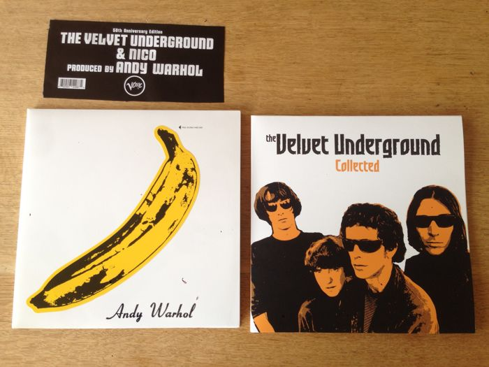 """Lot of 2 Albums ( 3 Lp's )- Velvet Underground - """" Andy Warhol """" - """" Collected """""""