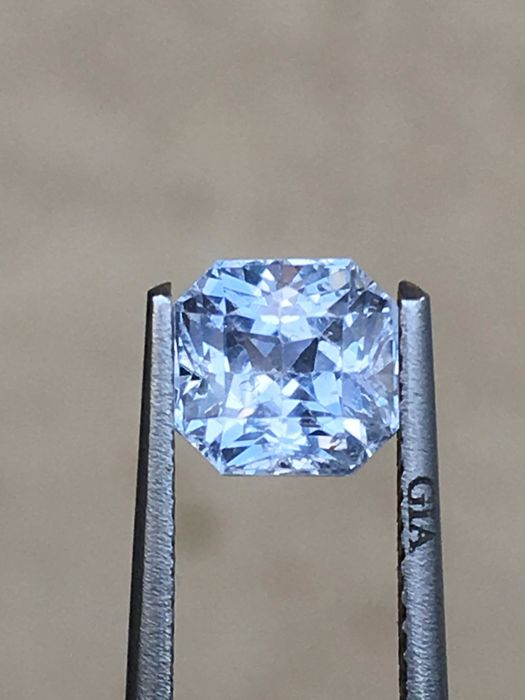 light blue fancy sapphire 1.74 ct