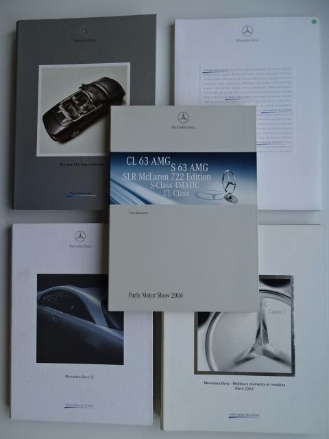 1999 - 2006 - MERCEDES-BENZ CL, AMG, CLK Cabriolet, SLR McLaren 722 Edition, SL 350, etc - mixed lot of 5 media information and press kits