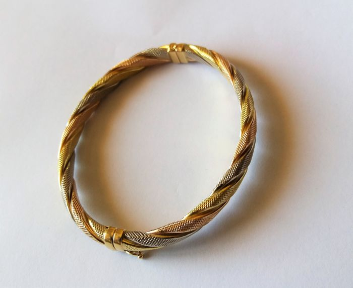 Bracelet, made in Italy, 18 kt gold, 16 g - length 21 cm